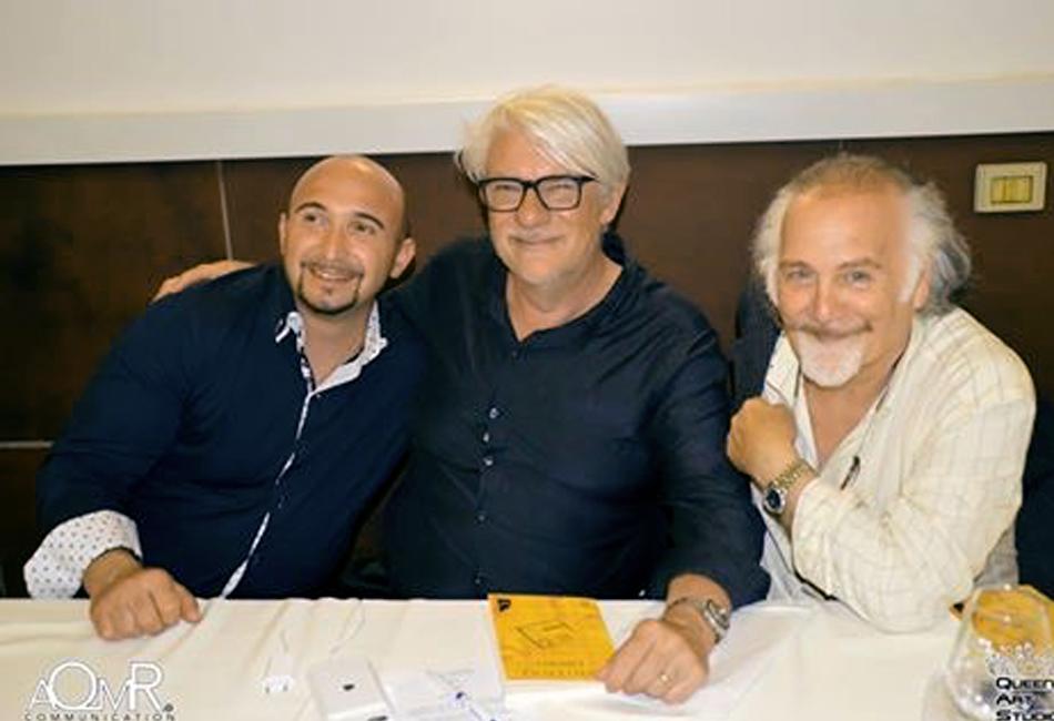 Enrich Zuin con Ricky Tognazzi e Salvador Dalì Jr.